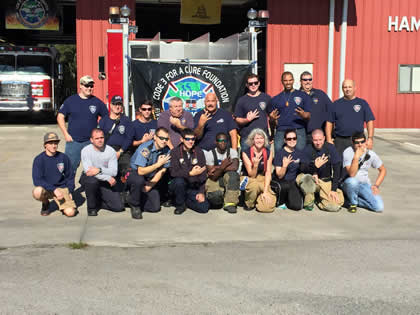 Photo of Hampton Firefighters and C3FAC team members at 2015 event