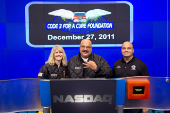 Code 3 for a Cure photo courtesy of NASDAQ OMX Group